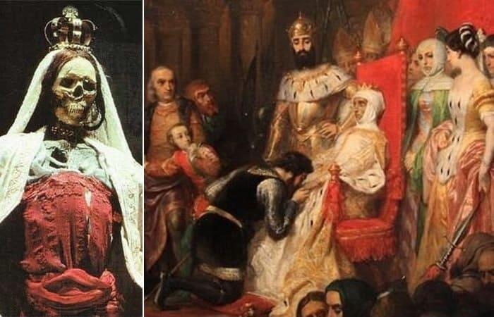 Пьер-Шарль Комт. Коронация Инес де Кастро в 1361 г., 1849   Фото: ancient-origins.net